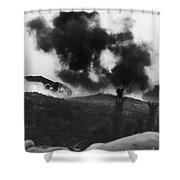 Korean War: Bunker Hill Shower Curtain