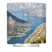 Kotor Bay In Montenegro Shower Curtain