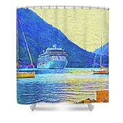 Kotor Harbor Shower Curtain