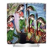 Krishna Prayer  Shower Curtain