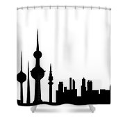Kuwait Skyline Shower Curtain