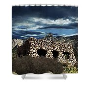 La Luz Rock House Shower Curtain