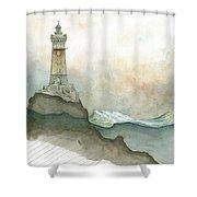 La Vieille Lighthouse Shower Curtain