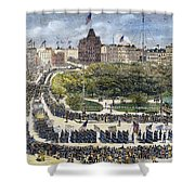 Labor Day Parade, 1882 Shower Curtain