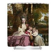 Lady Elizabeth Delme And Her Children Shower Curtain