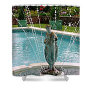 Lady In Fountain Shower Curtain