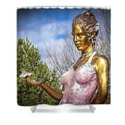 Lady In Pink Shower Curtain