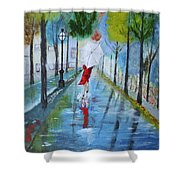Lady In Red Original Version Shower Curtain