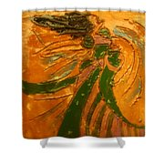 Lady Sings - Tile Shower Curtain