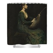 Lady With A Lute Shower Curtain