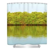 Lagoon On Santa Cruz Island In Galapagos Shower Curtain