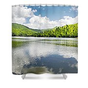 Lake Agua  Blanca Shower Curtain