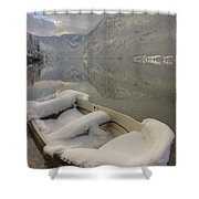 Lake Bohinj In Winter Shower Curtain