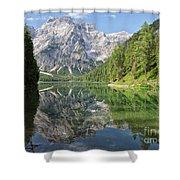Lake Braies Shower Curtain