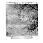 Lake Erie In Winter Shower Curtain