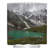 Lake Locce And Monte Rosa - Piedmont / Italy Shower Curtain