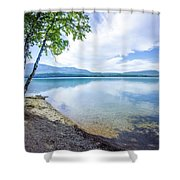 Lake Mcdonald In Glacier National Park Montanaa Shower Curtain
