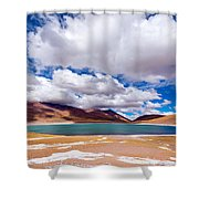 Lake Meniques In Chile Shower Curtain