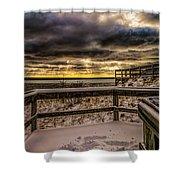 Lake Mi Sunset 5 Shower Curtain