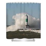 Lake Michigan Wave Shower Curtain