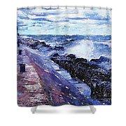 Lake Michigan Waves Shower Curtain