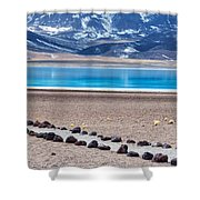 Lake Miscanti In Chile Shower Curtain