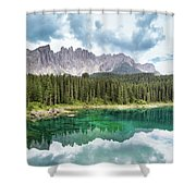 Lake Of Carezza - Italy Shower Curtain