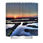 Lake Poygan Sunset Shower Curtain