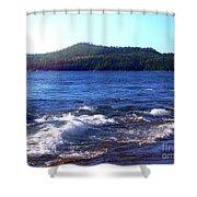 Lake Superior Landscape Shower Curtain