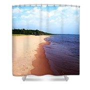 Lake Superior Shoreline Shower Curtain
