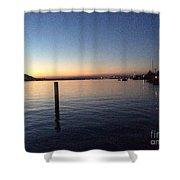 Lake Zurich At Sunset Shower Curtain