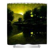 Lakeside Sunset Shower Curtain