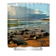 Landscape Drawing Shower Curtain