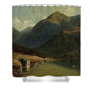 Landscape From Brienzersee Shower Curtain