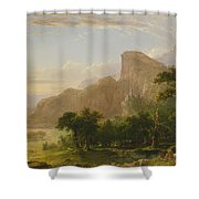 Landscape Scene From Thanatopsis Shower Curtain