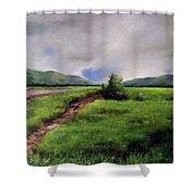 Landscape Sketching Shower Curtain