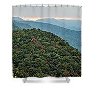 Landscape View At Cedar Mountain Overlook Shower Curtain