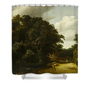 Landscape With A Village Road Shower Curtain