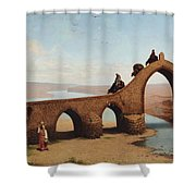 Landscape With Bridge Shower Curtain