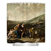 Landscape With Jacob And Rachel Shower Curtain