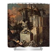 Landscape With Ruins Shower Curtain