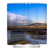 Langjokull  Glacier Shower Curtain