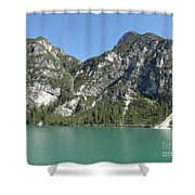 Largo Di Braies, Dolomites, Italy Shower Curtain