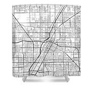Las Vegas Nevada Usa Light Map Shower Curtain