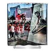 Las Vegas Strip 0231 Shower Curtain