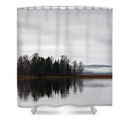 Late Fall Morning Shower Curtain
