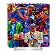 Latin Jazz Shower Curtain