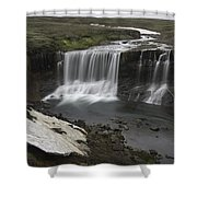 Laugafell Mountain Lodge Waterfalls 3133 Shower Curtain