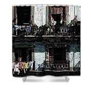 Laundry Day In Havana Shower Curtain