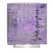 Lavender Gray Abstract Shower Curtain